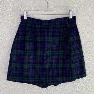 Skoozi Plaid Skort Shorts Cotton Y2K School